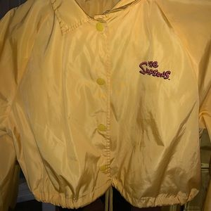 Yellow Simpson's cropped jacket adjustable string